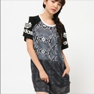 Adidas Originals LA Tee Dress Snake